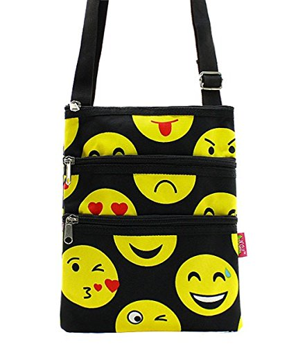 Emoji Messenger Bag Smiley Face Cross Body Shoulder Handbag