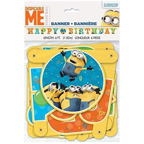 DESPICABLE ME Minion Made BANNER ~ Birthday Party Supplies Hanging -