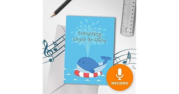 Amazon.com: Feel Better Card con mensaje grabable para ...