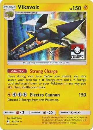 Vikavolt - 52/149 - Holo - Toy R Us League Promo - Pokemon Promos (Toy Card Promo)