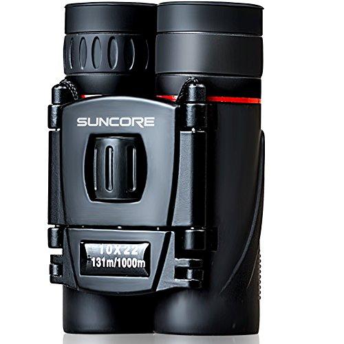 [해외]SUNCORE BT 10x22 HD 접이식 소형 쌍안경 야외 주간지, 여행, 관광, 사냥 등을위한 미니 포켓 크기의 쌍안 망원경/SUNCORE BT 10x22 HD Folding Compact Binoculars mi