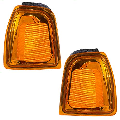 Driver and Passenger Park Signal Corner Marker Light Lamp for Ford Pickup Truck 1L5Z 15A201 BA 1L5Z 15A201 -
