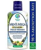 Men's Mega Premium Liquid Multivitamin w/ CoQ10, PABA + 100 additional Vitamins, Minerals