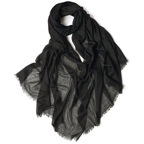 ZORJAR 100% Cashmere Ultra Thin Soft Warm Long Extra Large Scarf Shawl Scarves Wrap 39