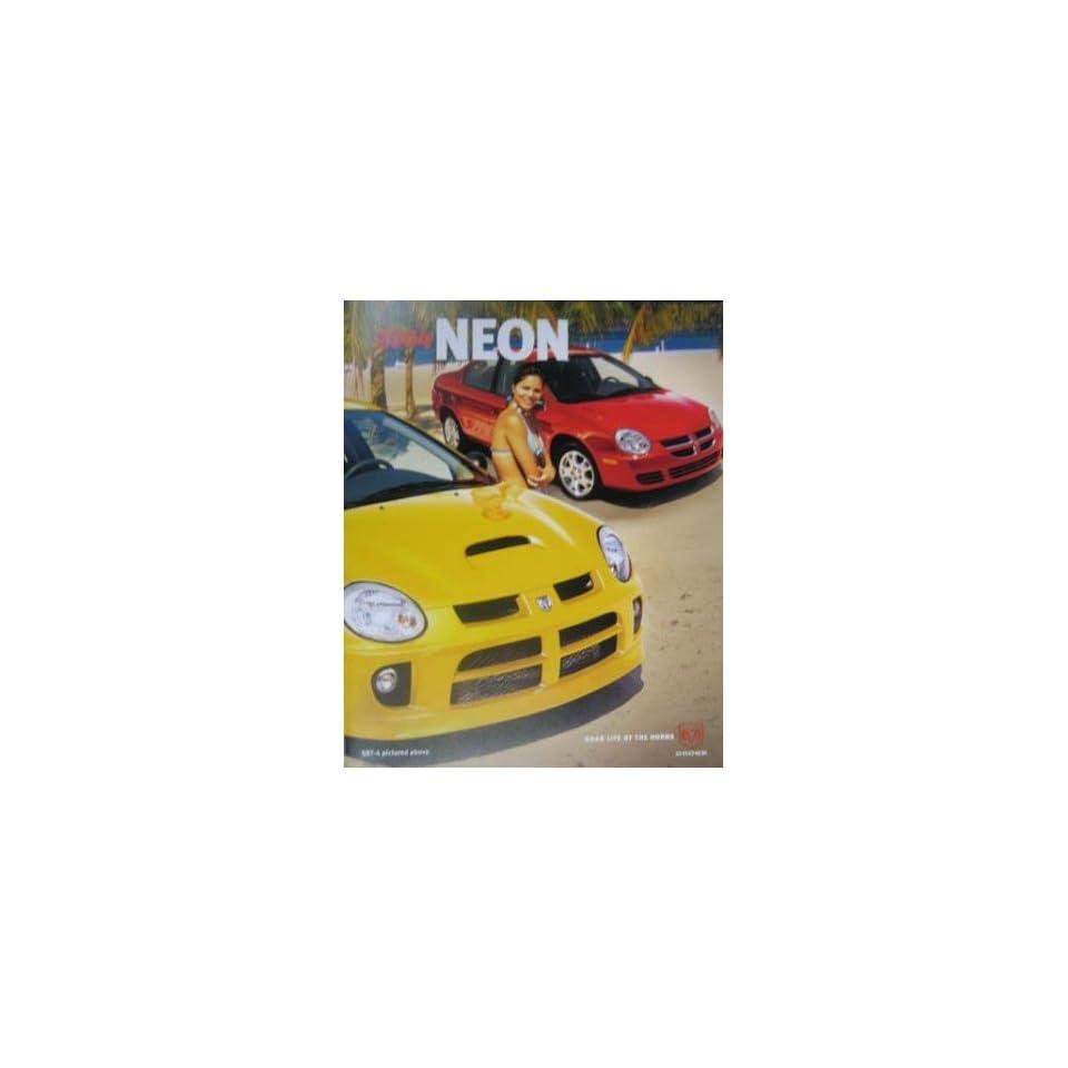 2004 Dodge Neon Sales Brochure Literature Book Dealer Advertisement Options