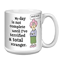 Tree-Free Greetings Extra Large 20-Ounce Ceramic Coffee Mug, Aunty Acid Terrifying A Stranger (XM41489)