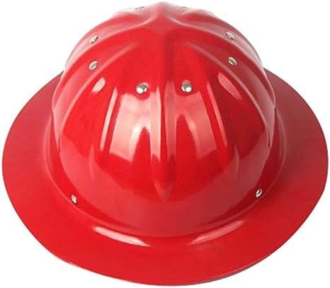 Sooiy Casco con Casco Ajustable, Casco de construcción de Aluminio ...