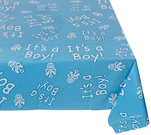 Beistle 57384 It's a Boy! Table Cover, 54-Inch by 108-Inch