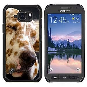 LECELL--Funda protectora / Cubierta / Piel For Samsung Galaxy S6Active Active G890A -- Gran Danés Spots perro canino Mascota --
