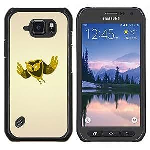 LECELL--Funda protectora / Cubierta / Piel For Samsung Galaxy S6Active Active G890A -- Minimalista Búho --