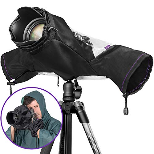 Altura Photo Professional Rain Cover for Large Canon Nikon DSLR -