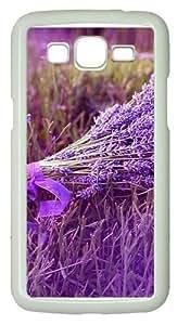 Lavender Polycarbonate Hard Case Cover for Samsung Grand 2/7106 White