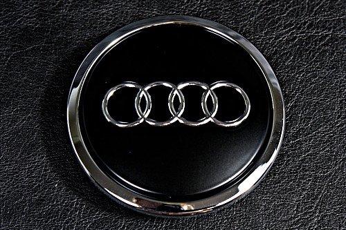Radzierkappe Original Audi Nabenkappe Tuning Deckel f/ür Alufelgen schwarz-matt