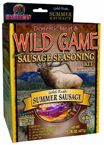 Hi-Country Snack Foods Domestic Meat and WILD GAME 21.26 oz. Summer Sausage (Country Meat Sausage)
