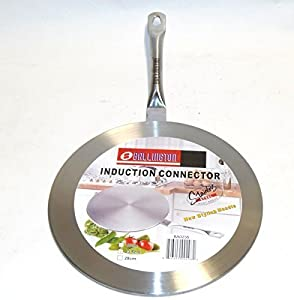 "Induction Cooktop Converter Interface Disc 9.5"" Stainless Steel"