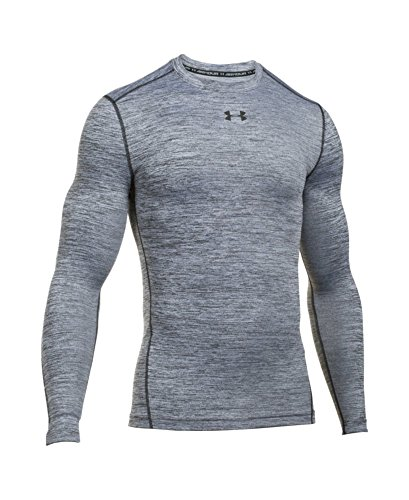 Under Armour Men's ColdGear Armour Twist Compression Crew, White/Black, Small by Under Armour (Image #3)