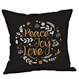 Christmas Tree Pgojuni Throw Pillow Cases Cushion Cover Home Decor Flax Pillow Cover for Sofa/Couch 1pc 45cmx45cm (B)