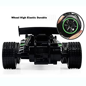 1/20 Scale 2WD RC Car, 2.4GHZ Radio Remote Control Off Road RC RTR Racing Car Truck, High Speed Waterproof Electronics Monster for Kids Adults (Green)