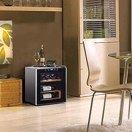 YFGQBCP 42L compresor del refrigerador de Vino, encimera Bodega/Chiller, Vino Frigorífico Zona única con Control táctil, un Funcionamiento silencioso Nevera