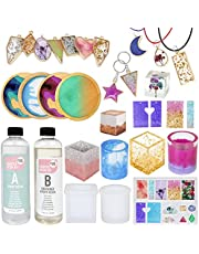 Resin Kit by Craft It Up! - Complete Starter Jewelry Making Resin Kit for Beginners - All Inclusive Craft Resin Starter Kit - Epoxy Resin Kit with Molds, Charms, Dyes & Dry Flowers Included - Gift Set