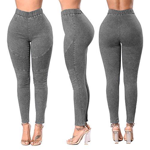 D't Jeans pour Haute Solide Push Treggings Couleur junkai avec Gris 2XL Up Poches Pantalons Skinny Leggings Pantalon Jeans 4 Pantalon Femmes Taille S Couleurs Caw5wx8