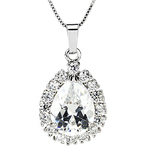 Super-Sparking-Fashionable-White-Gold-Plated-Cubic-Zircon-CZ-Brilliant-Charm-Pendant-Necklace