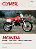 Clymer Publications M431-2 MANUAL HONDA CR80R-125R 89-96