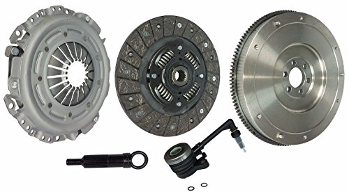 Flywheel Nissan (Clutch With Slave And Flywheel Kit Works With Nissan Sentra Versa S Sl Base Custom Elite Sr Emotion Luxury 2007-2011 1.8L l4 2.0L l4 GAS DOHC Naturally Aspirated)