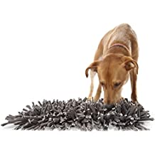"Wooly Snuffle Mat - Feeding Mat for Dogs (12"" x 18"") - Grey Feeding Mat - Encourages Natural Foraging Skills - Easy to Fill - Fun to Use Design - Durable and Machine Washable - Perfect for Any Breed"