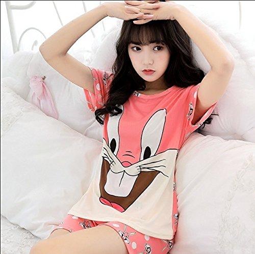 Amazon.com: Blue Stones Pajamas Sets For Women Summer Short Sleeve Cartoon Cute Sleepwear Girl Pijamas Mujer Nightgown Lovely Leisure Wear: Kitchen & Dining