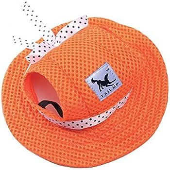 463852ebdd0 CIDEROS Pet Dog Princess Hats for Small Size Dogs Visor Design Fashion Dogs  Baseball Sun Hats