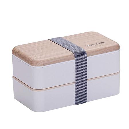 Caja bento almuerzo Congelador de microondas Nivel 2 apilables ...