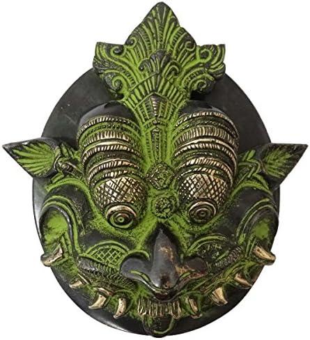 Giant DesignsドアノッカーグリーンエスニックメタルFigurine装飾インディアンアート