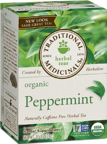 Traditional Medicinals Organic Peppermint Herbal Tea - 16 Te