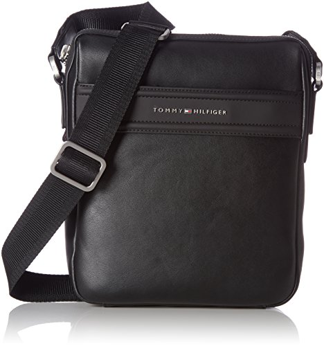 Tommy Hilfiger City Business Slim Reporter Novelty, Shopper y Bolso para Hombre, Negro (Black), 6x29x22.5 cm (W x H x L)
