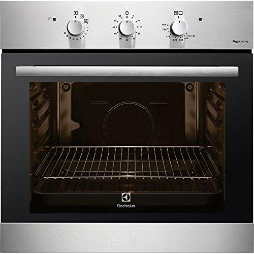 Electrolux F13GX Gas natural 69L 1760W A+ Negro, Acero inoxidable - Horno (Medio, Gas natural, 69 L, 1760 W, 69 L, 1760 W)