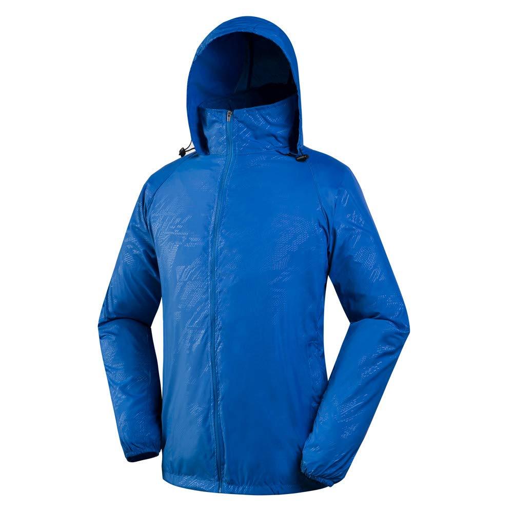 FarJing Men Women Lightweight Jacket Waterproof Windbreaker Jacket Protect Running Coat