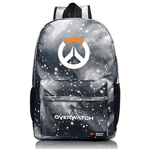 33c5d6656397 YOURNELO Unisex Leisure Overwatch High Capacity Canvas School Backpack  Bookbag (H Reaper)