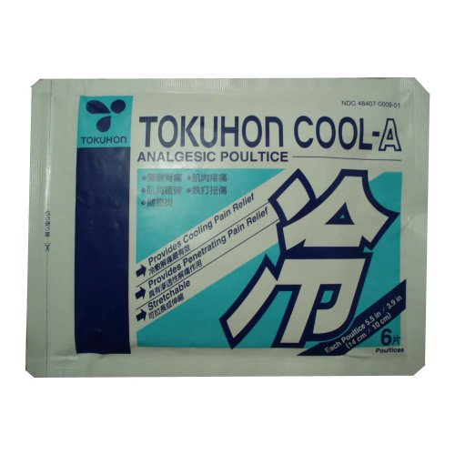 Tokuhon Cool-Un cataplasme analgésique (6 cataplasmes, chaque 5.5 dans x 3,9 po) - 3 packs