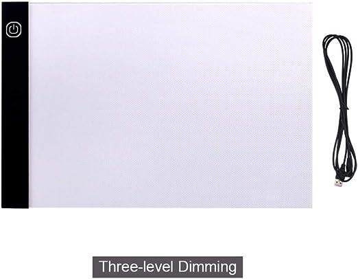 Almohadilla De Luz A3 Almohadilla De Luz Led Caja De Luz De Seguimiento De Gran Tamaño Tablero De Copia Pintura Tabla De Escritura Dibujo Tableta Gráfica Bocetos Animación-A3_3-Level_Dimming: Amazon.es: Hogar