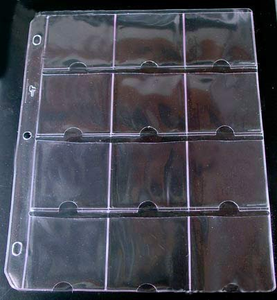 - 25 Vinyl 12-Pocket Pages for 2.5x2.5 Holders