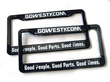 GoWesty License Plate Frames (Set of 2), Frames - Amazon Canada