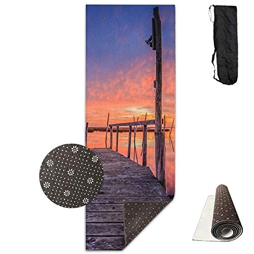 Rustic Pier Deluxe,Yoga Mat Aerobic Exercise Pilates Anti-Slip Gymnastics Mats