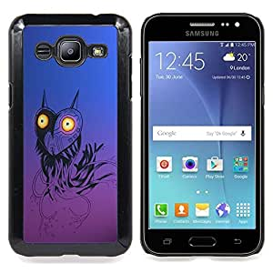 Funny Robot Heart Owl Caja protectora de pl??stico duro Dise?¡Àado King Case For Samsung Galaxy J2