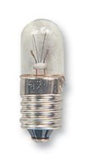 4.5 LUMEN Average Bulb Life 5000h Bulb Size T-3 1//4 10mm 24V FILAMENT 10MM Lamp Base Type E10 //