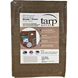 Kotap 30-ft x 50-ft Reversible Brown/Green Poly Tarp, Item: TBG-3050
