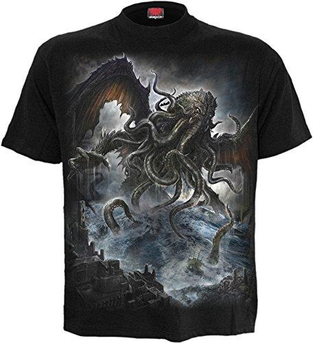 Spiral mens cthulhu t shirt black xxl import it all for Mens xxl tall dress shirts