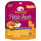 Wellness Petite Treats Small Breed Crunchy Natural Grain Free Dog Treats, Duck & Mango, 6-Ounce Bag