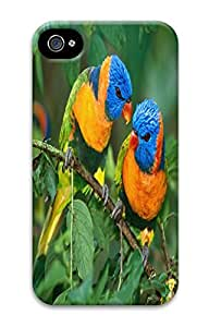 Beautiful birds PC White Case For Iphone4 4s - Love each other