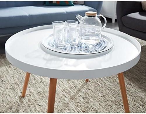 cm Table scandinave CONSTANCE basse laqué ronde blanc satiné 74x74 4cA5jRL3qS